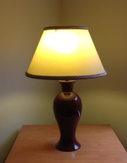 Burgundy table lamp for sale