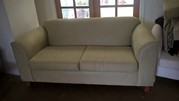 (2) Three seater lounges excellent condition faux suede