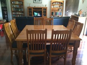Solid pine dining suite