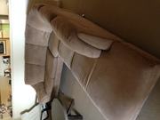 L Shaped 6 seater Suede Brown colour very modern style Natuzzi Lounge