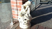 Outdoor home ceramic Buddha,  with plate for candle for sale Bunbury