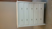 Excellent condition white 5 drawer tall boy dresser for sale Bunbury