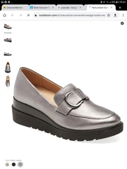 Naturalizer wedge loafers,  metallic